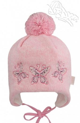 Zvětšit RDX čepice 3505 sv.růžová, dívčí zimní čepice