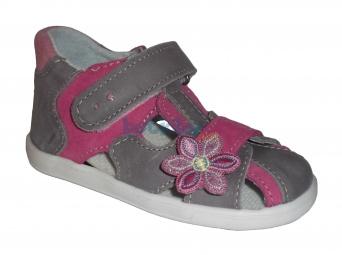 Zvětšit Jonap - J035/M šedá/růžová, 01 dívčí letní boty