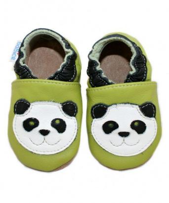 Zvětšit BABICE kožené capáčky - panda BA-038