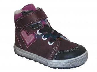 Zvětšit Jonap - J050/M/V/Z srdce vínová, 01 dětská zimní obuv